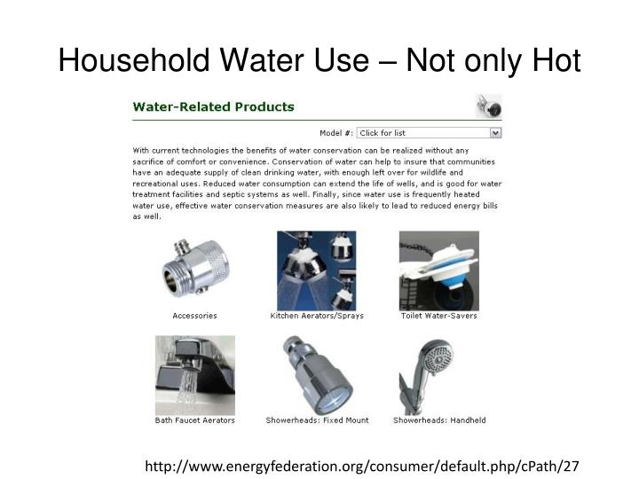 Household Water Use – Not only Hot