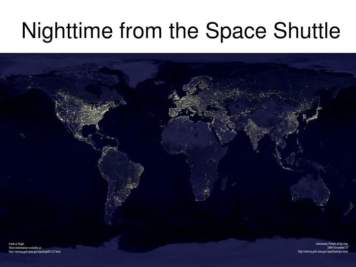 Nighttime from the Space Shuttle