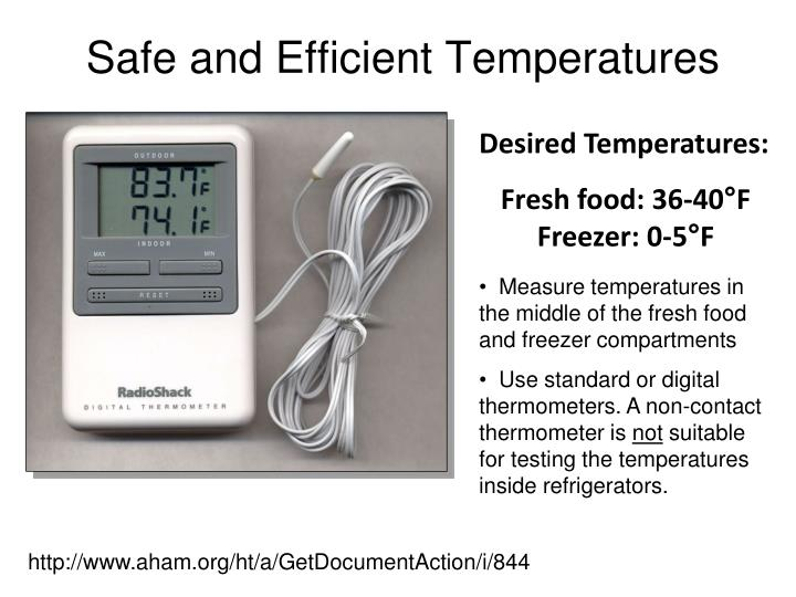 Safe and Efficient Temperatures