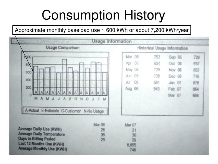 Consumption History