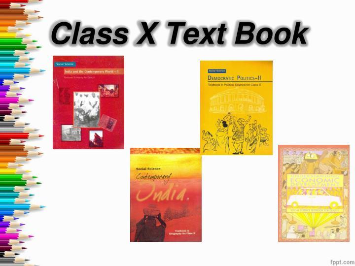 Class X Text Book