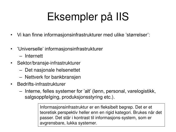 Eksempler på IIS