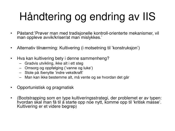 Håndtering og endring av IIS