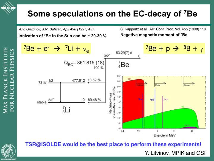 Some speculations on the EC-decay of