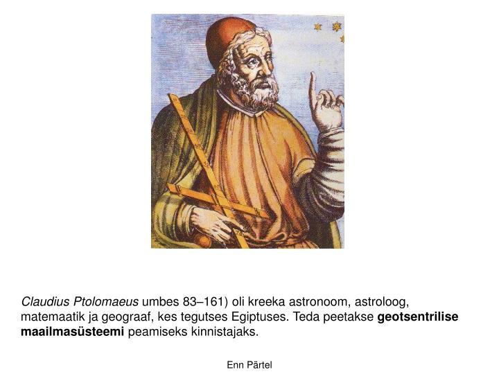 Claudius Ptolomaeus