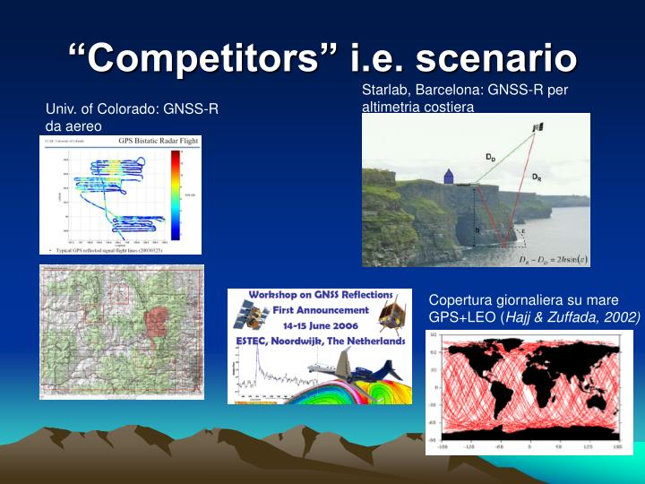 """""""Competitors"""" i.e. scenario"""