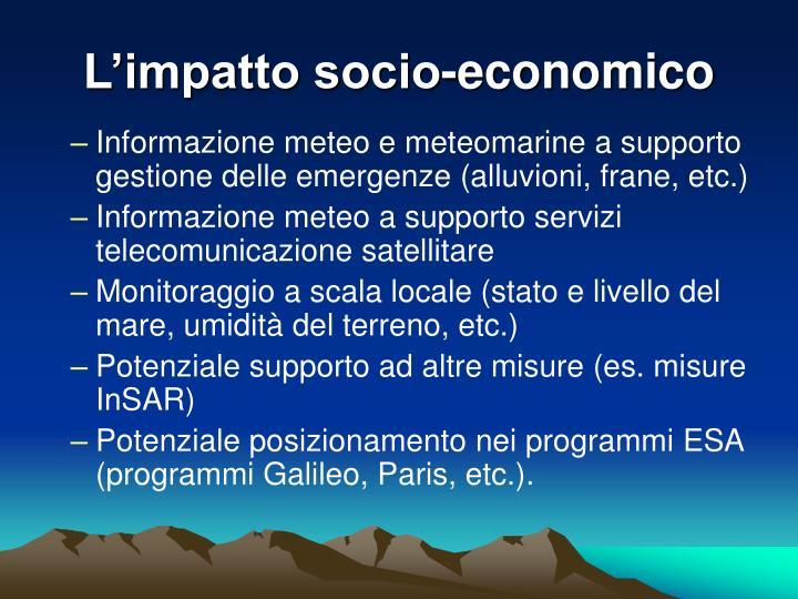 L'impatto socio-economico