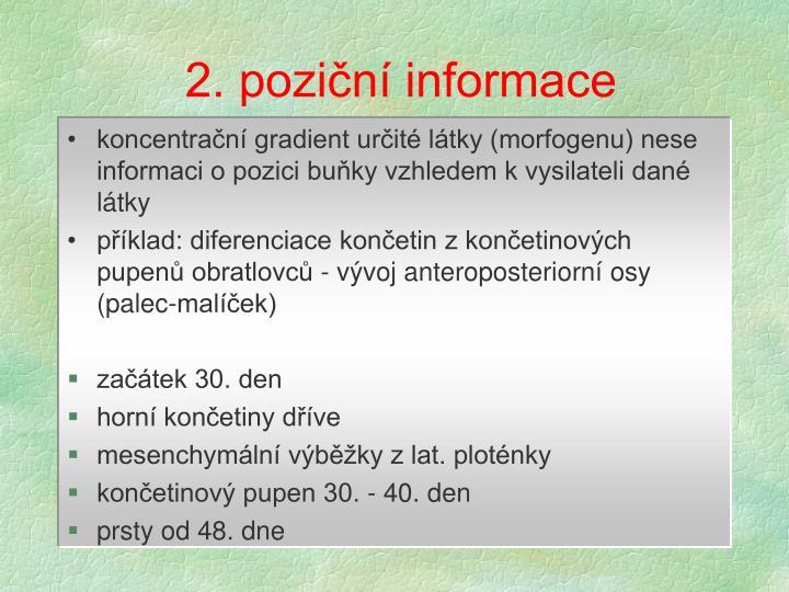 2. poziční informace