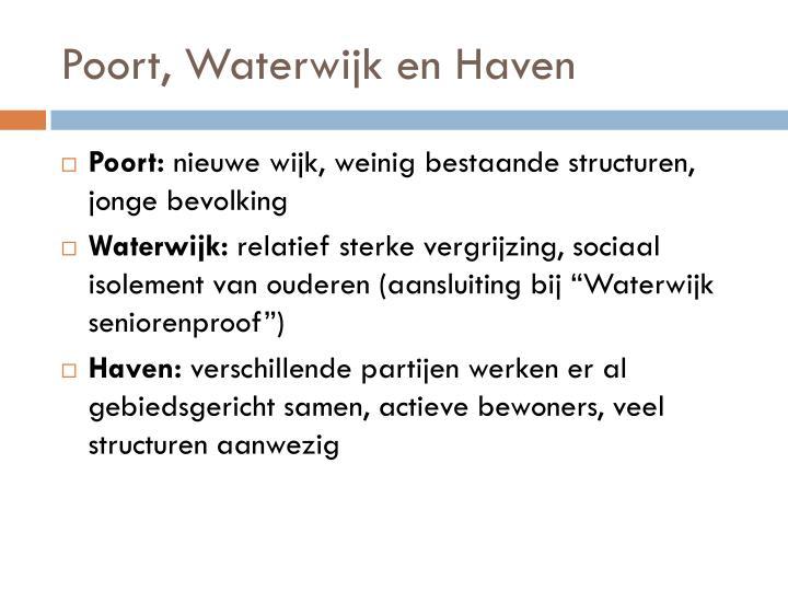 Poort, Waterwijk en Haven