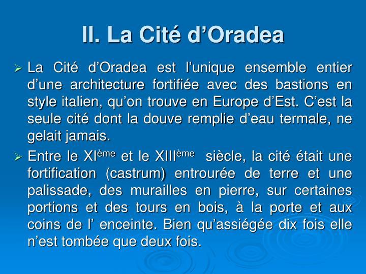 II. La Cité d'Oradea
