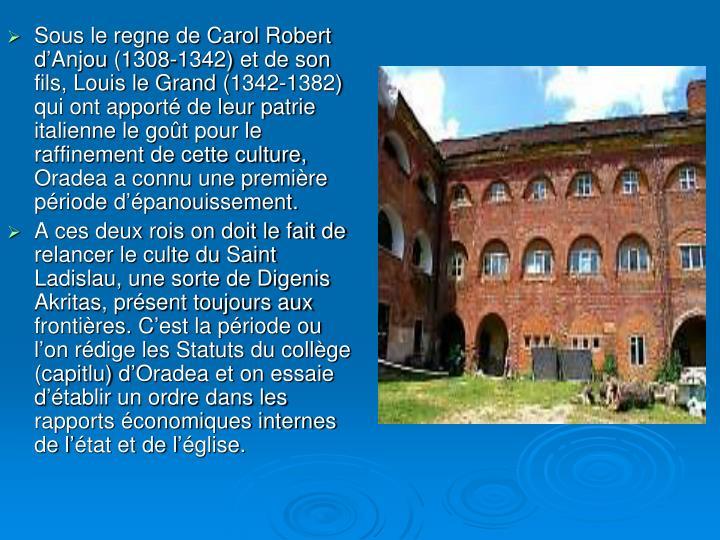 Sous le regne de Carol Robert d'Anjou