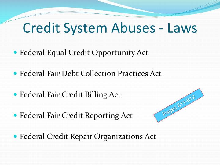 Credit System Abuses - Laws