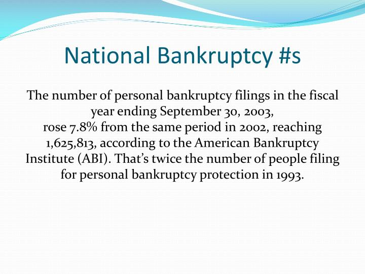 National Bankruptcy #s