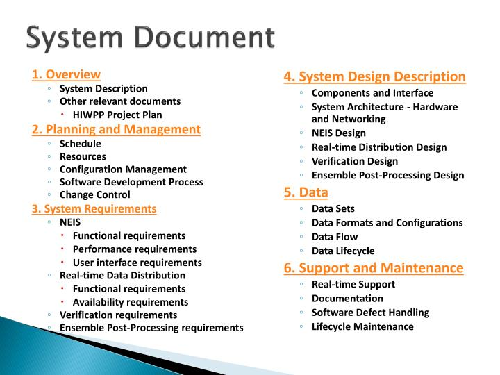 System Document