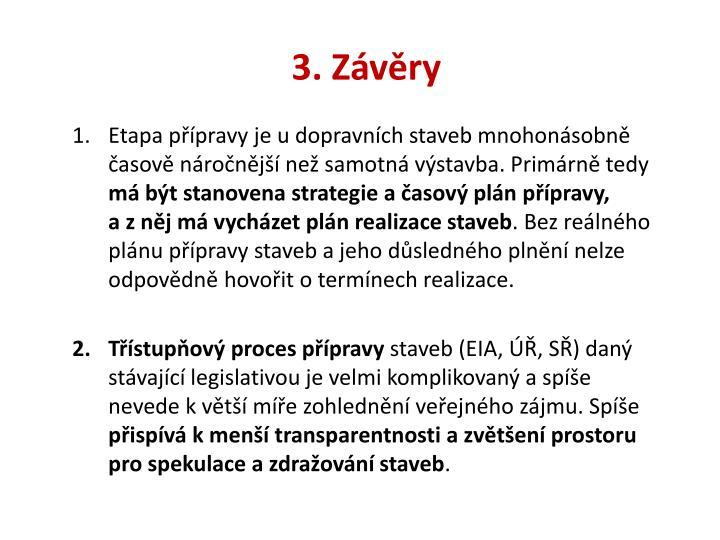 3. Závěry