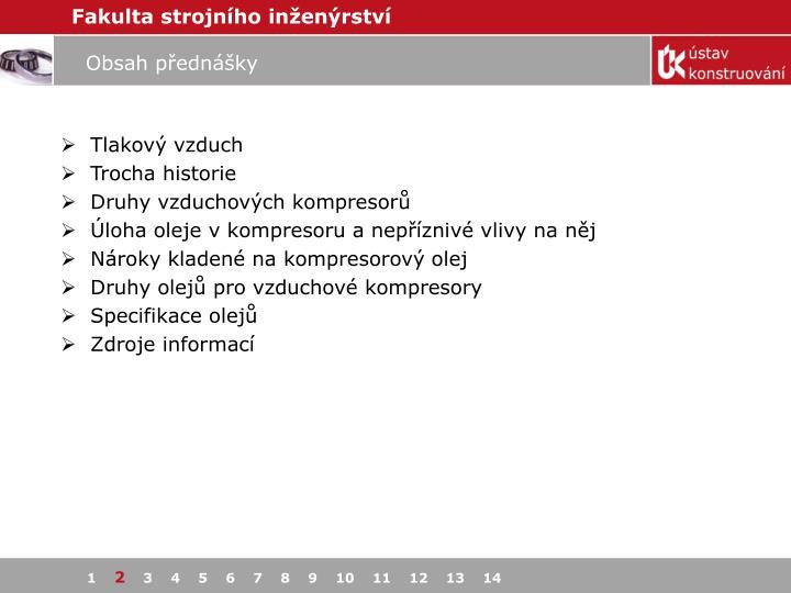 Obsah přednášky