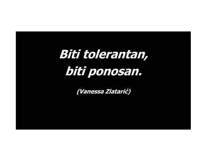 Biti tolerantan,