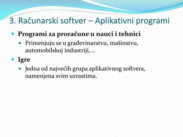 3. Računarski softver –