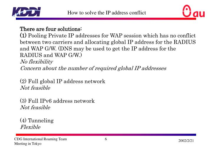 How to solve the IP address conflict