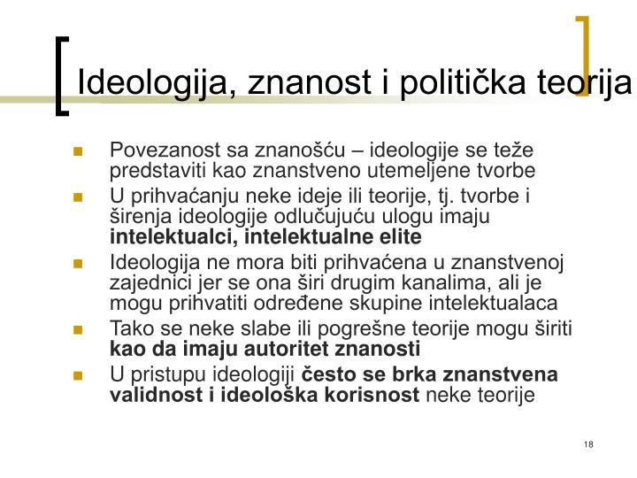 Ideologija, znanost i politička teorija