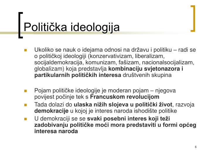 Politička ideologija