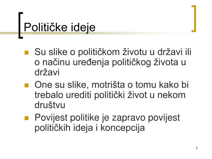 Političke ideje