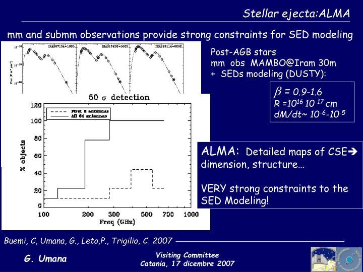 Stellar ejecta:ALMA