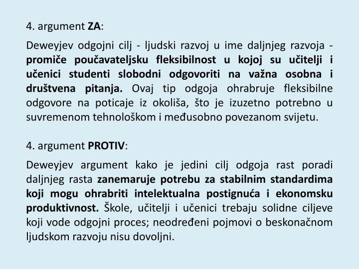 4. argument