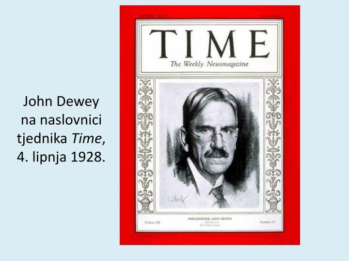 John Dewey na naslovnici tjednika