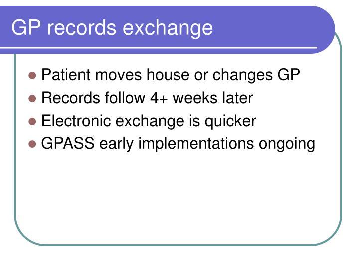GP records exchange