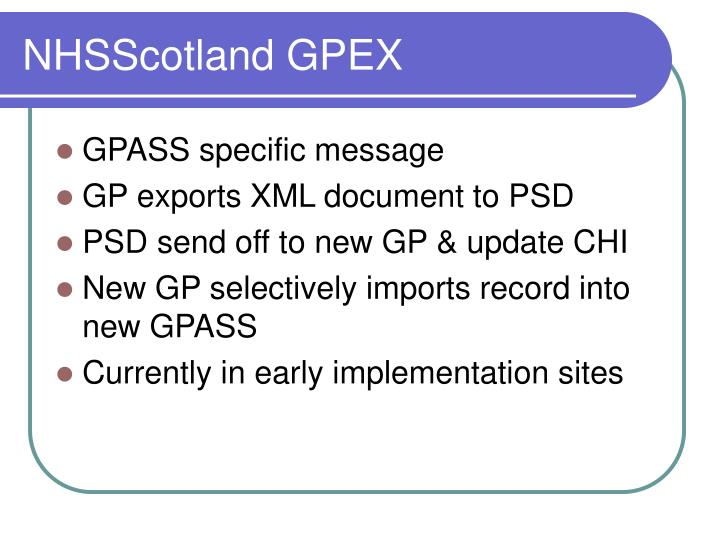 NHSScotland GPEX