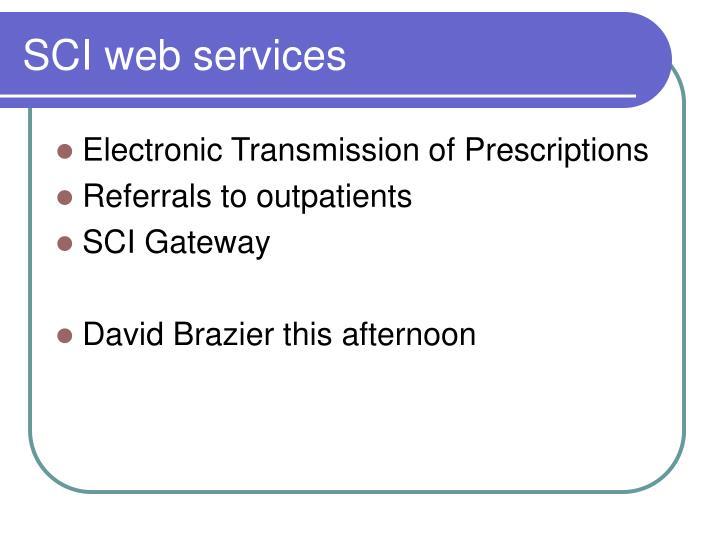 SCI web services