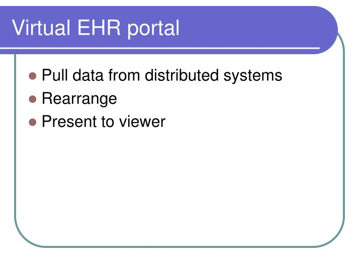 Virtual EHR portal