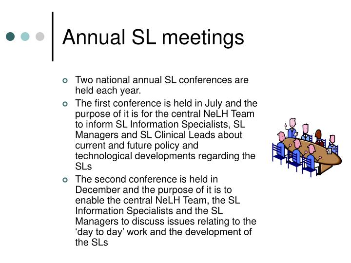 Annual SL meetings