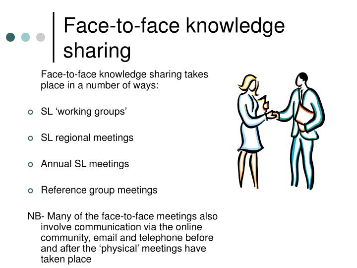 Face-to-face knowledge sharing