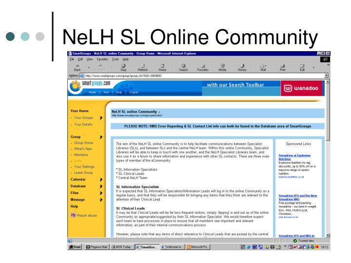 NeLH SL Online Community