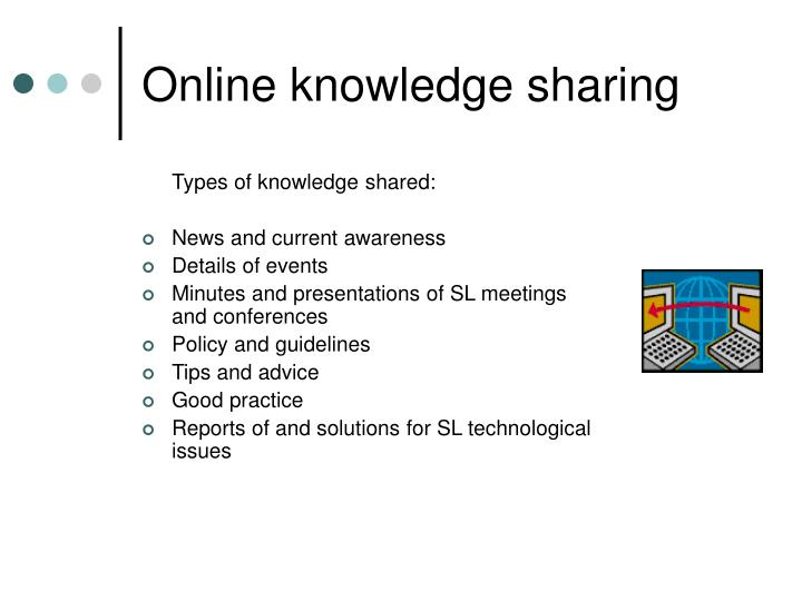 Online knowledge sharing