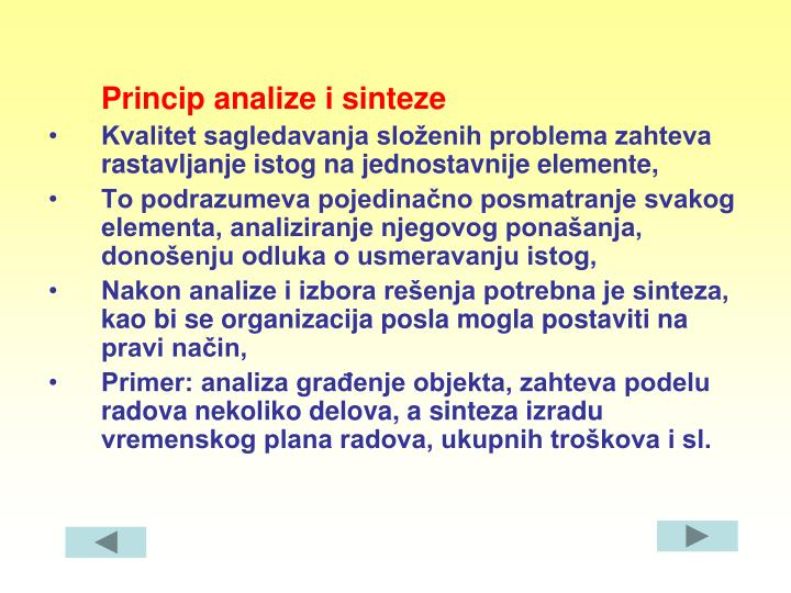 Princip analize i sinteze