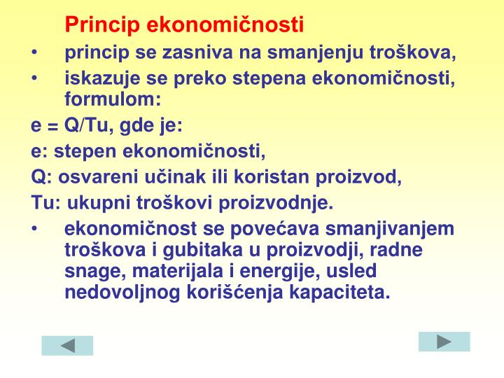 Princip ekonomičnosti
