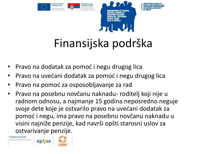 Finansijska podrška