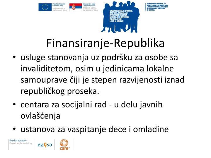 Finansiranje-Republika