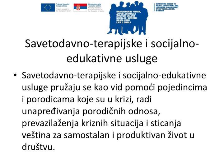 Savetodavno-terapijske i socijalno-edukativne usluge