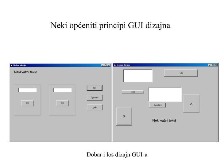 Neki općeniti principi GUI dizajna