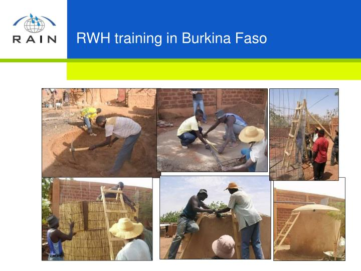 RWH training in Burkina Faso