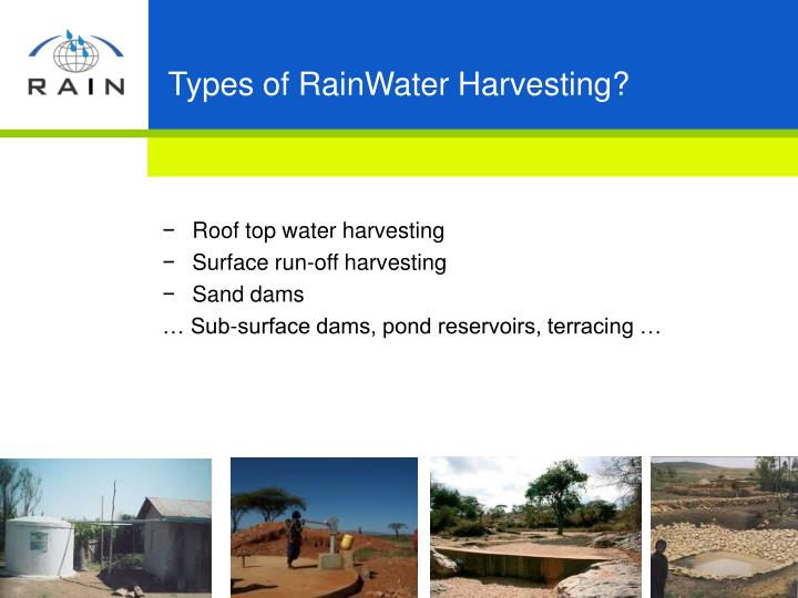 Types of RainWater Harvesting?