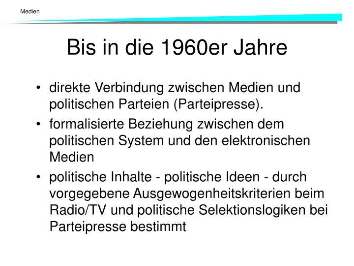 direkte Verbindung zwischen Medien und politischen Parteien (Parteipresse).