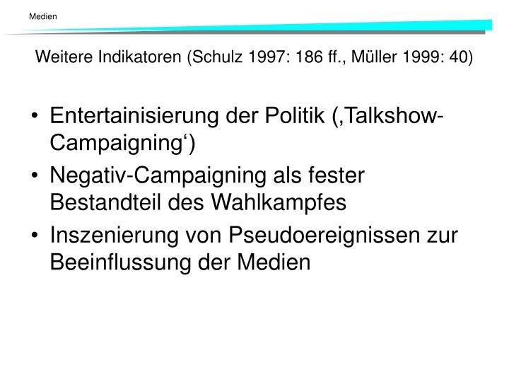 Entertainisierung der Politik ('Talkshow-Campaigning')