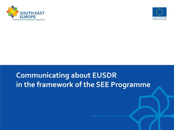 Communicating about EUSDR