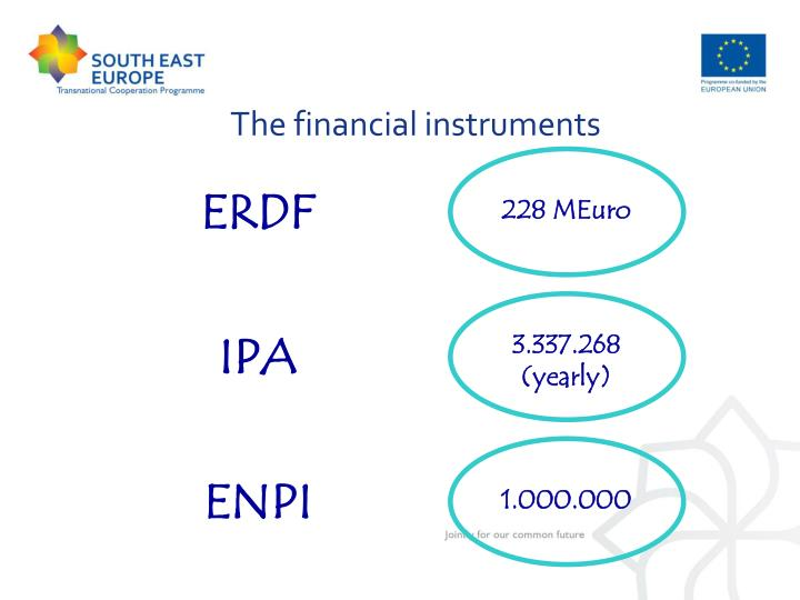 The financial instruments