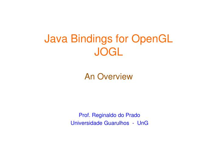 Java Bindings for OpenGL